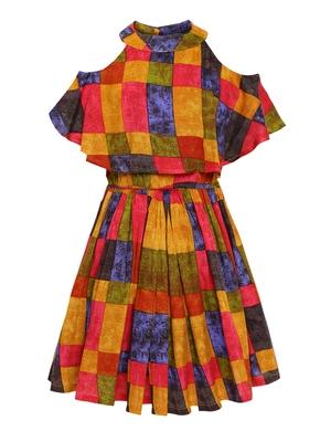 multi colored cotton dress