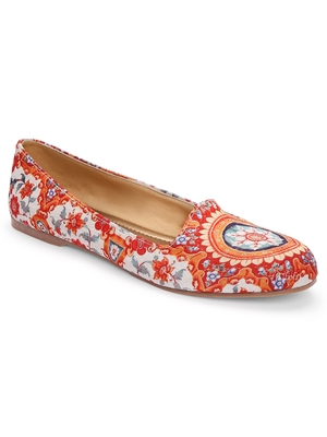 Women Ethnic Floral Mughal Loafers Shoes