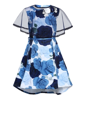 patch detail layered dress