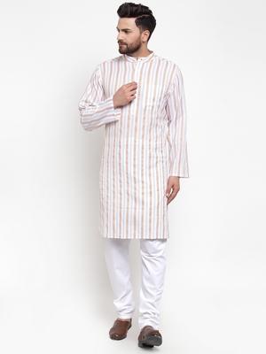 White woven cotton men-kurtas
