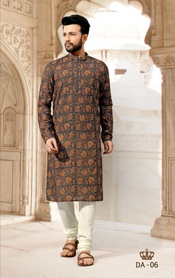 Multicolor printed polyester men-kurtas