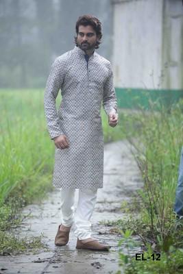 Multicolor printed polyester men-kurtas
