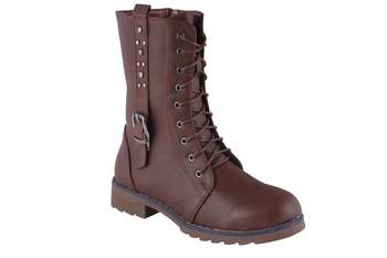 Women Brown lace up Boots