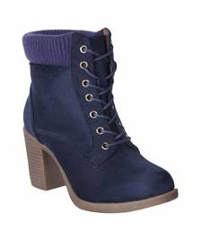 Women Navy lace up  Boots
