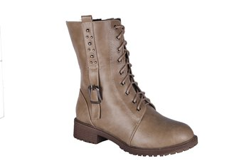 Women  Synthetic brown calf  Boots lace up
