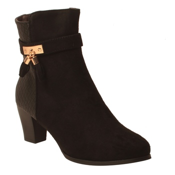 Women Black Synthetic Boots