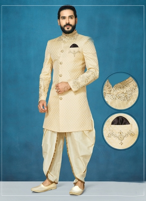 White woven south silk indo-western-dresses