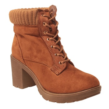 Women Tan Synthetic Boots