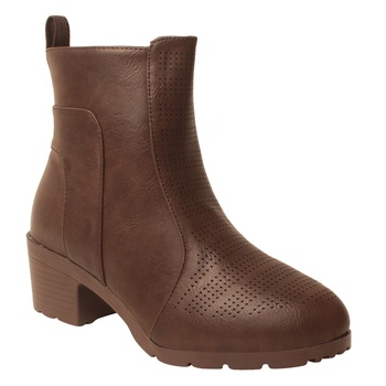 Women Brown Synthetic Boots