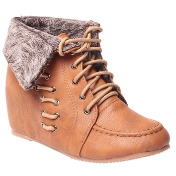 women Brown Synthetic leather Shoes