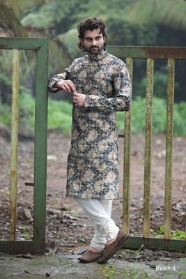 Multicolor printed poly cotton men-kurtas