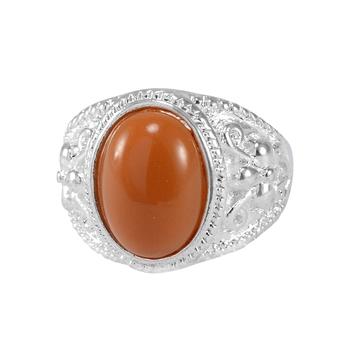 Brown quartz rings