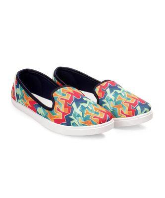 Women Multi Canvas Slip-On Sneakers