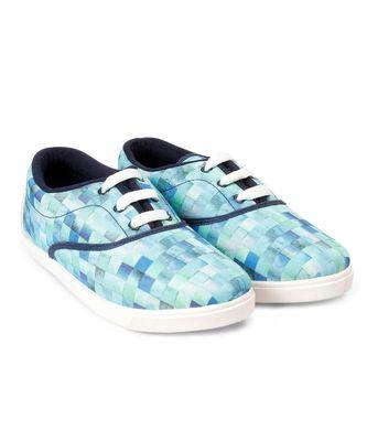 Women Blue Canvas Sneakers