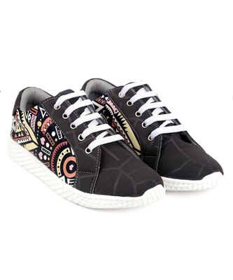 Women Black Canvas Sneakers