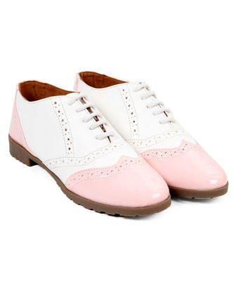 Women White Synthetic Patent Sneakers