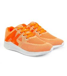 Women Flyknit Orange Sports Shoes Sneakers