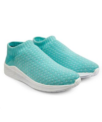Women Flyknit Sea Green Sports Shoes Sneakers