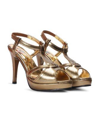 Women Gold Sandals Stiletto
