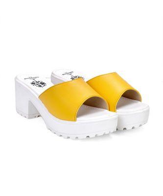 Women Yellow Sandals Block