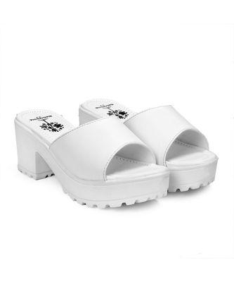 Women White Sandals Block