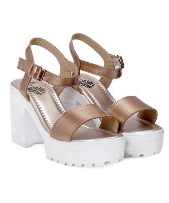 Women Copper Sandals Block