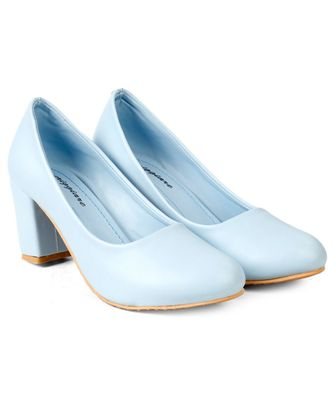Women Pastel Blue Pumps Block