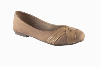 Women Synthetic Beige slip on  Bellies