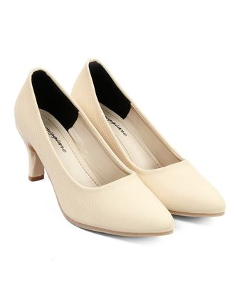 Women Cream Pumps Stiletto