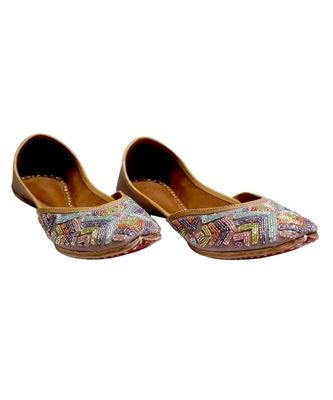 MULTICOLOR EMBROIDERY PARTY WEAR ETHNIC.JUTTI
