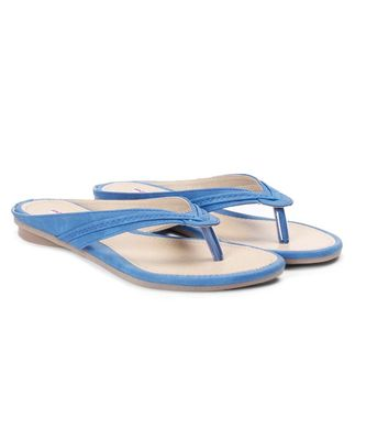 Women Blue Flats One Toe Flats