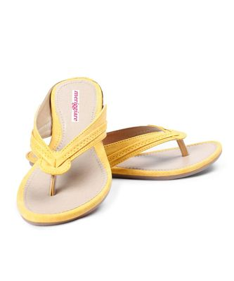Women Yellow Flats One Toe Flats