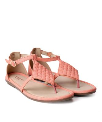 Women Peach Flats One Toe Flats