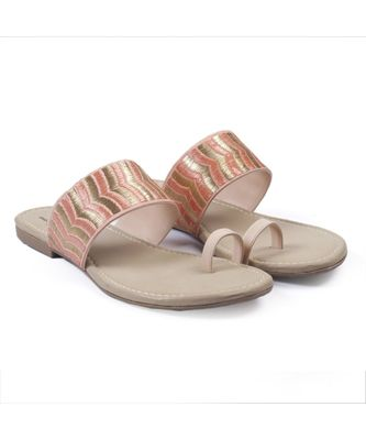 Women Pink Flats One Toe Flats