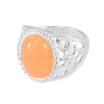 Orange crystal rings
