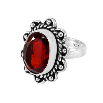 Red quartz rings