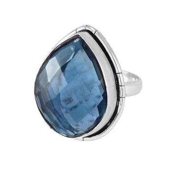 Blue quartz rings