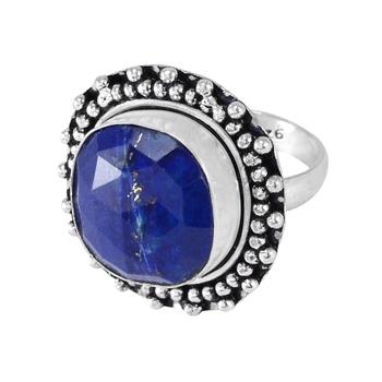 Blue lapis lazuli rings