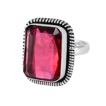 Pink quartz rings