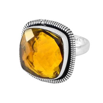 Yellow quartz rings