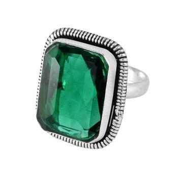 Green quartz rings