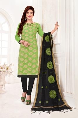Light-green embroidered banarasi brocade salwar