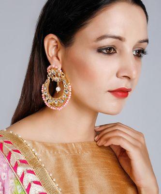 Kundan Chand Earrings