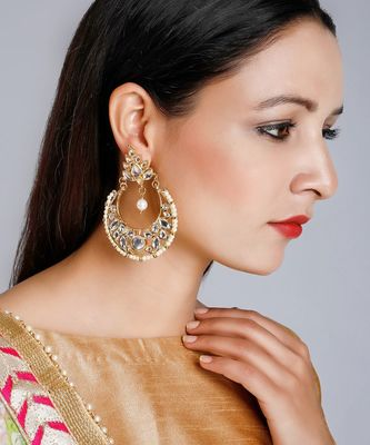 Kundan Chand Earrings