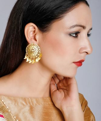 Golden Disc Earrings