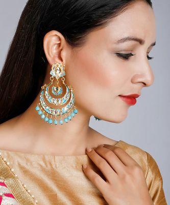 Enamel Chand Earrings