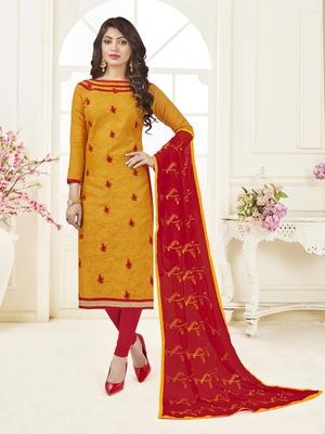 Gold embroidered jacquard salwar