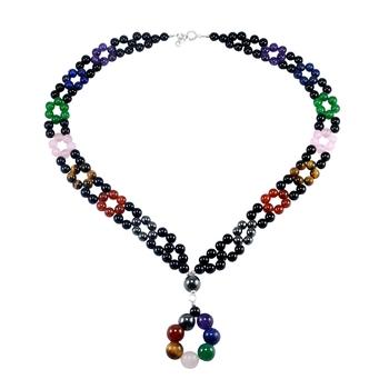 Multicolor carnelian necklaces