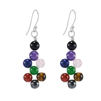 Multicolor onyx earrings