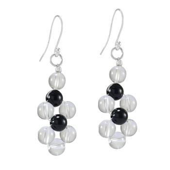 Multicolor onyx earrings